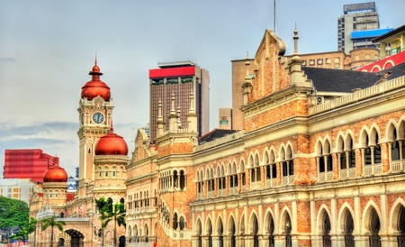 Sultan Abdul Samad Building in Kuala Lumpur. Built in 1897, it houses now offices of the Information Ministry. Malaysia Standard-Bild