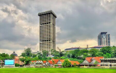 Royal Selangor Club and Police Headquarters Tower in Kuala Lumpur, Malaysia Stock Photo
