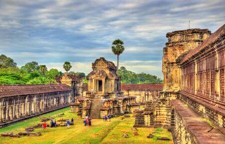 Thousand God Library at Angkor Wat, Cambodia