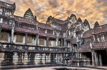 Bakan, the central sanctuary of Angkor Wat - Siem reap, Cambodia Stock Photo
