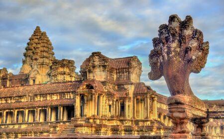 Angkor Wat Main Temple at Siem reap, Cambodia Stock Photo