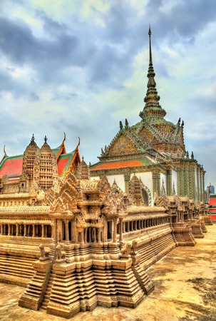 kaew: Wat Phra Kaew Ancient, temple of the Emerald Buddha in Bangkok, Thailand Stock Photo
