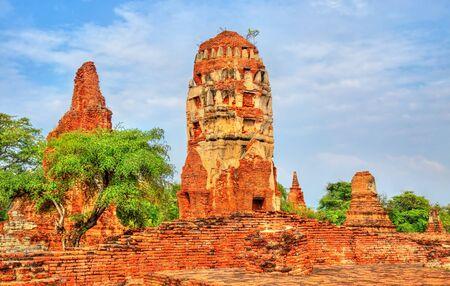 Wat Mahathat at Ayutthaya Historical Park, Thailand Stock Photo
