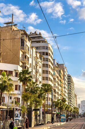 Avenue Hassan II in Casablanca, Morocco Stock Photo