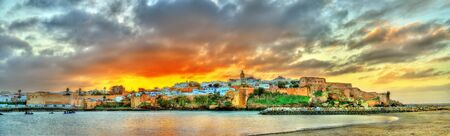 Sunset above Rabat and the Bou Regreg river, Morocco