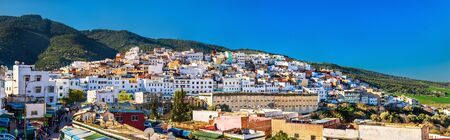 fes: Panorama of Moulay Idriss Zerhoun town in Morocco