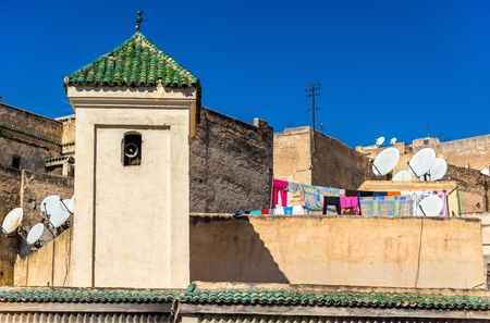 fes: Fes el Bali, the oldest walled part of Fes in Morocco