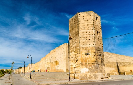 fes: Bab Segma, a tower at the city walls of Fes, Morocco Stock Photo