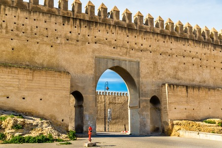 fes: Bab Chems, a gate of Fes, Morocco Stock Photo