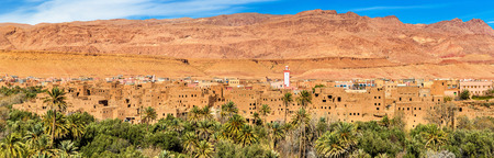 Panorama of Tinghir city in Morocco Фото со стока