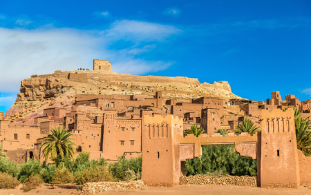 View of Ait Benhaddou, a UNESCO world heritage site in Morocco