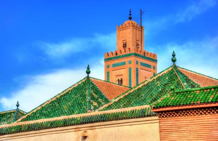 Buildings in Medina of Marrakesh, a UNESCO heritage site in Morocco Stock Photo