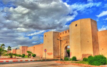 Bab Laarissa or Bab Er-Raha, one of gates of Marrakesh, Morocco