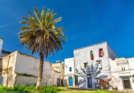 casa colonial: Casas en la ciudad de Azemmour, Marruecos Foto de archivo