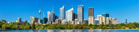 city park boat house: Panorama of Sydney central business district - Australia