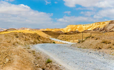 judean hills: Gravel road in Judaean Desert near Dead Sea - Israel