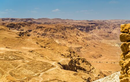 judean hills: Judaean Desert as seen from Masada fortress - Israel