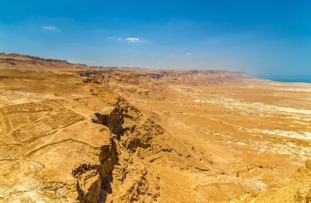 judaean desert: Judaean Desert as seen from Masada fortress - Israel