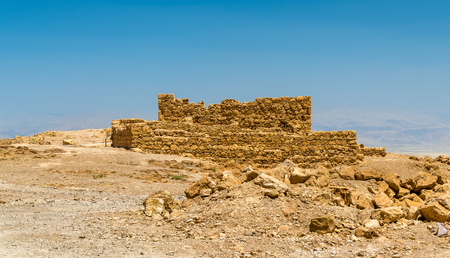 judean hills: View on ruins of Masada fortress - Judaean Desert, Israel