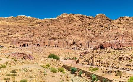 colonnaded: The Colonnaded street and the Royal Tombs at Petra