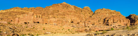 Panorama of the Royal Tombs at Petra, UNESCO world heritage site