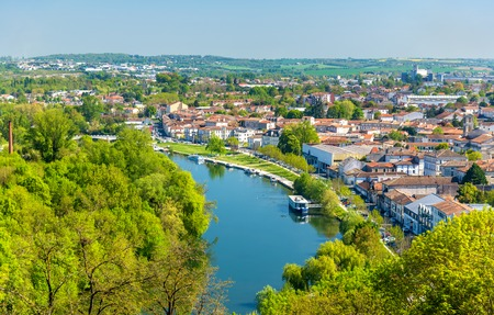 The Charente River at Angouleme, France