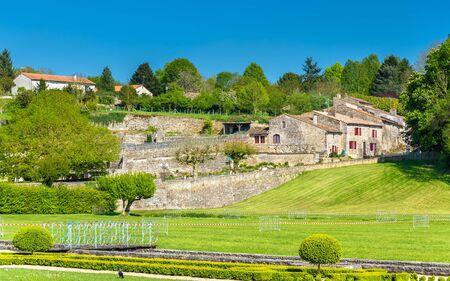 sur: The Royal Abbey Notre-Dame of Celles-sur-Belle in France