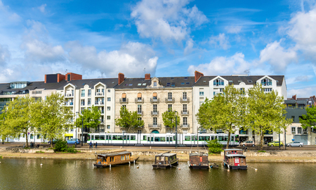 The Erdre River in Nantes, France