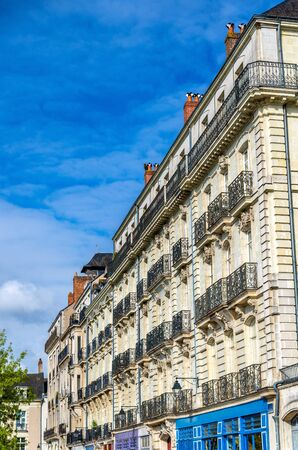 Historic buildings in Nantes, France Stock Photo