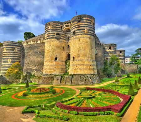 Angers Castle in the Loire Valley, France 写真素材