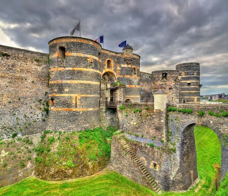 Angers Castle in the Loire Valley, France Stock Photo