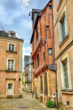 Buildings in the old town of Angers, France
