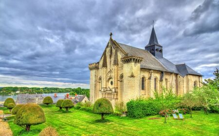 candes: Collegiale Saint-Martin de Candes, a church on the bank of the Vienne, France