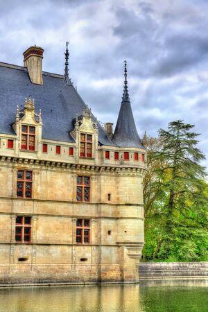 Azay-le-Rideau castle in Loire Valley, France. Stock Photo