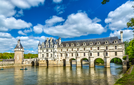 Chateau de Chenonceau on the Cher River - France