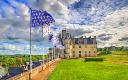 Chateau dAmboise, one of the castles in the Loire Valley - France