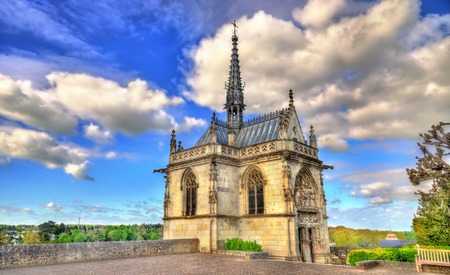 Saint Hubert Chapel at the Amboise Castle in the Loire Valley - France
