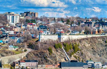 levis: View of Levis town from Quebec City, Canada