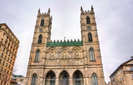 gothic revival: Notre Dame Basilica of Montreal in Quebec, Canada