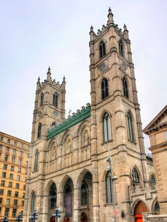 plaza of arms: Notre Dame Basilica of Montreal in Quebec, Canada