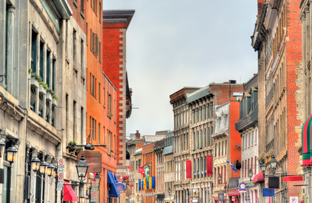 Buildings on St Paul street in Old Montreal - Quebec, Canada