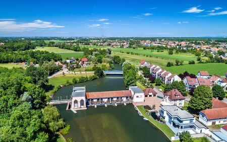 Eschau-Bas-Rhin, 프랑스에서 아픈 강에 오래 된 수력 발전소