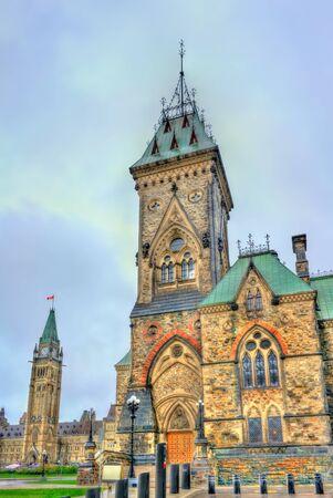 principal: The East Block of Parliament in Ottawa, Canada Foto de archivo