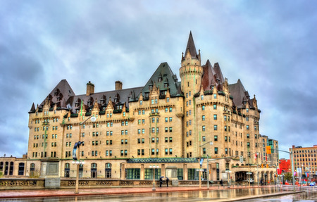 The Fairmont Chateau Laurier in Ottawa, Canada Stock Photo