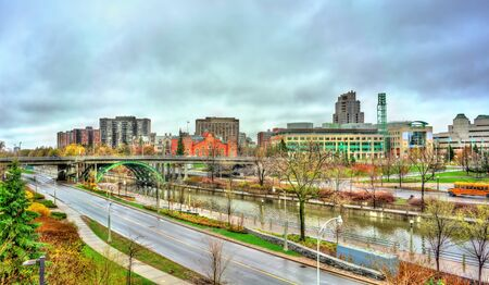 Cityscape of Ottawa with the Rideau Canal in Canada