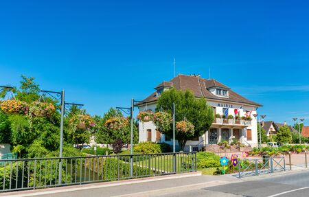 Mairie or town hall of Plobsheim near Strasbourg, France Stock Photo
