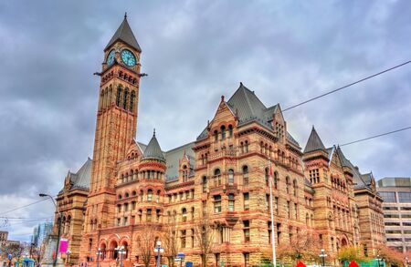 The Old City Hall, a Romanesque civic building and court house in Toronto - Ontario, Canada Stock Photo