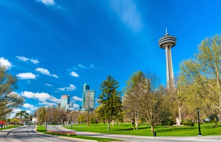 Skyline of Niagara Falls City in Ontario, Canada Stock Photo
