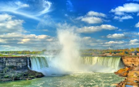 horseshoe falls: Horseshoe or Canadian Falls at Niagara Falls Stock Photo