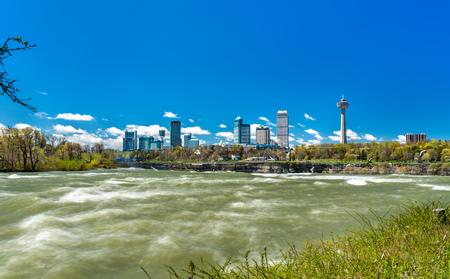 Skyline of Niagara Falls City in Canada